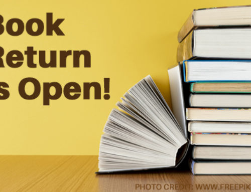 Outside Book Return is Now Open