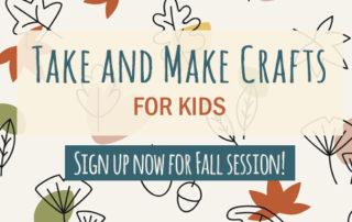 Fall 2020 Take and Make Craft program for kids