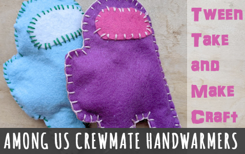 Tween Craft Among Us Handwarmers