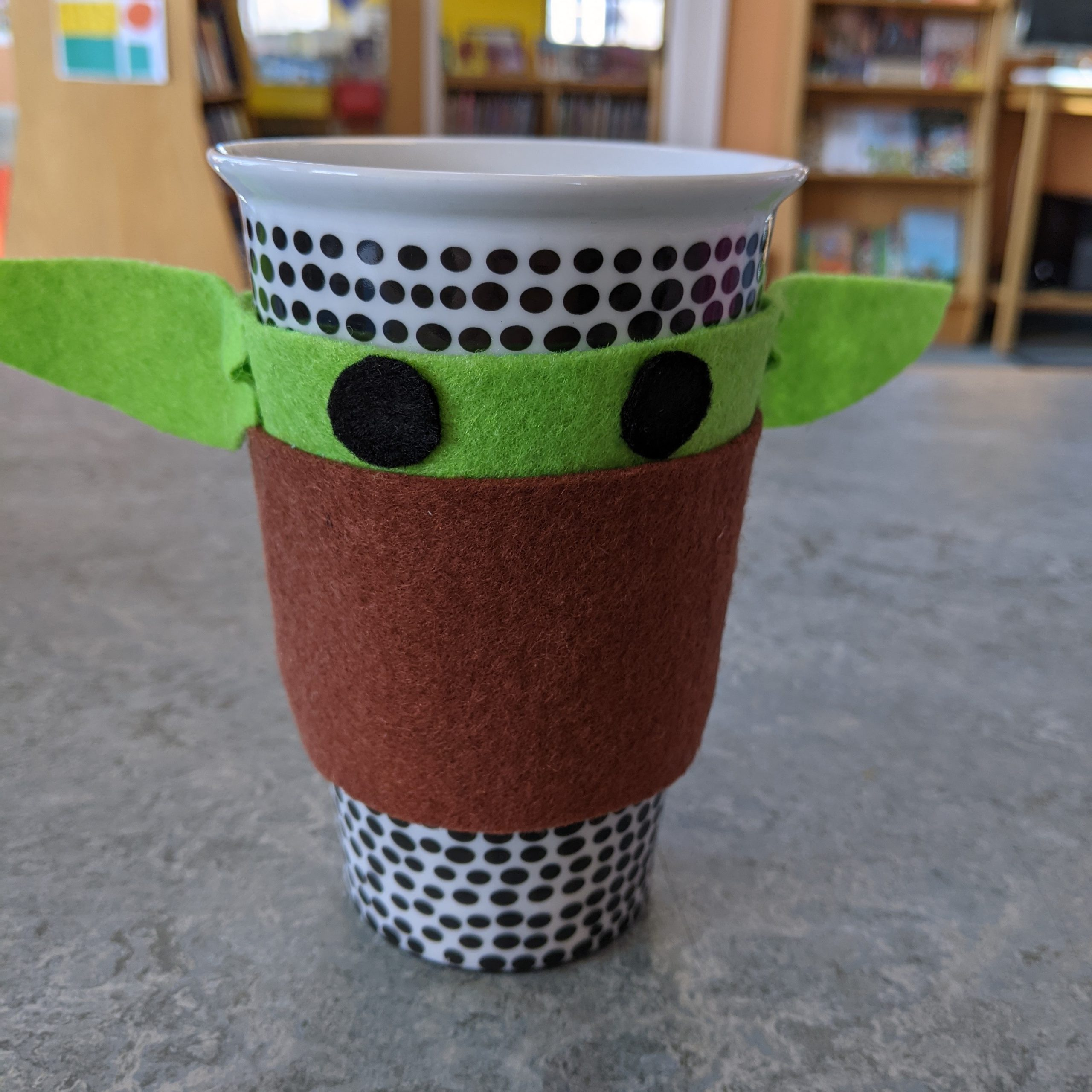 Baby Yoda Coffee Sleeve