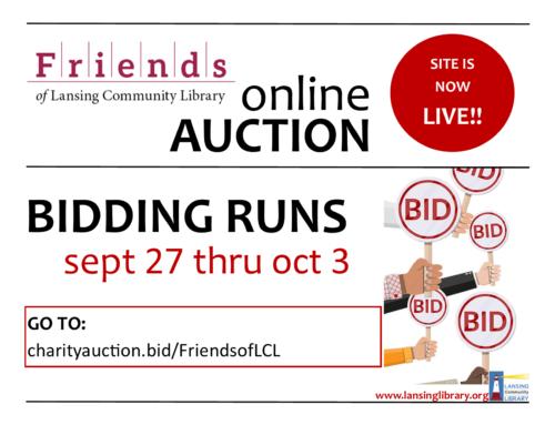 Friends' Online Auction Site Is Live!