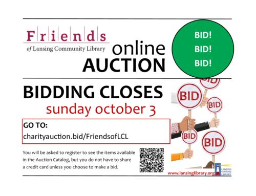 Online Auction Closes Sunday